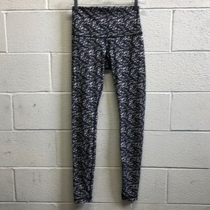 Lululemon black & gray sequin pattern legging sz 6